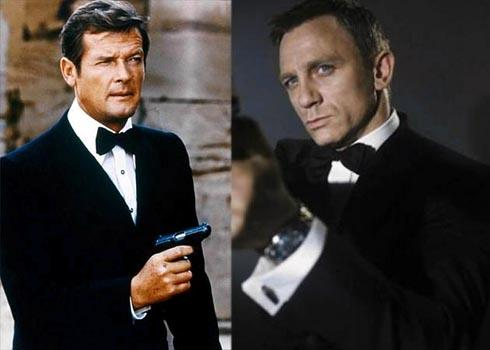 Roger Moore (left) says Daniel Craig is likely to be the best Bond ever