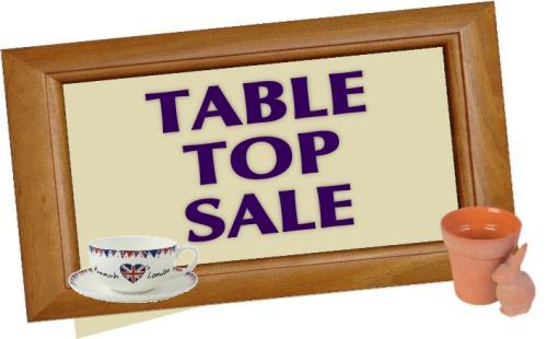 Charity table top sale coming to Quedgeley