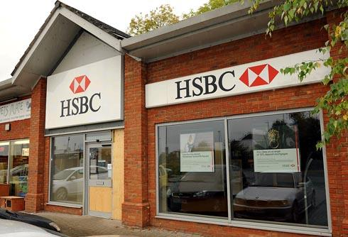 Robbers wearing balaclavas ram-raided the HSBC bank in Quedgeley and stole around £100,000 cash on Friday morning