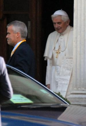 Pope Benedict XVI during his visit to Wimbledon in September 2010