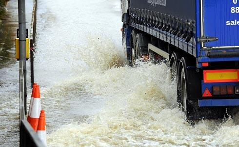 Heavy rain is anticipated across the county for a second day
