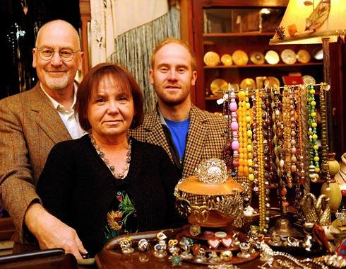 Time After Time staff (l-r) Dave, Sandra and Toby Ireland inside their shop in Stroud which will have a new floor opening on Wednesday, December 12