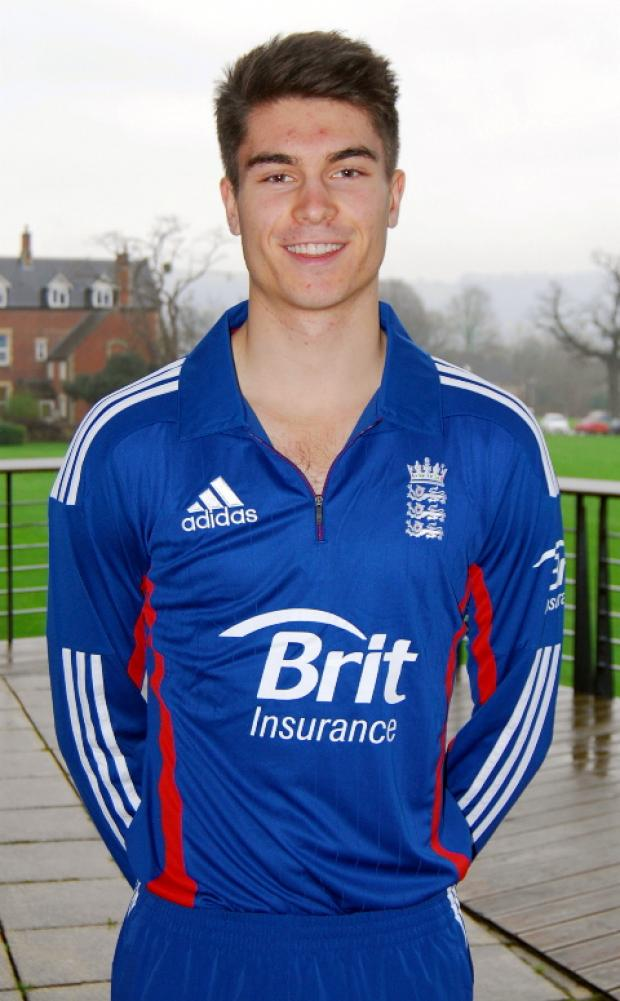 Tom Shrewsbury made his debut for England under-19s in the one-day series against South Africa