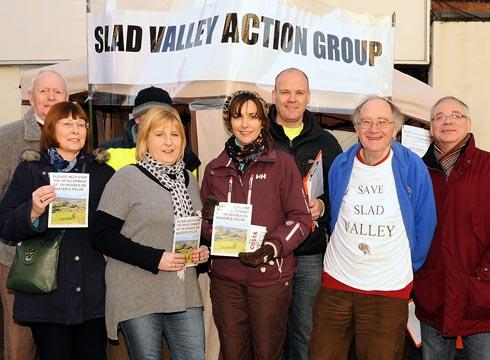 Members of Slad Valley Action Group promoted their campaign in Stroud High Street on Saturday