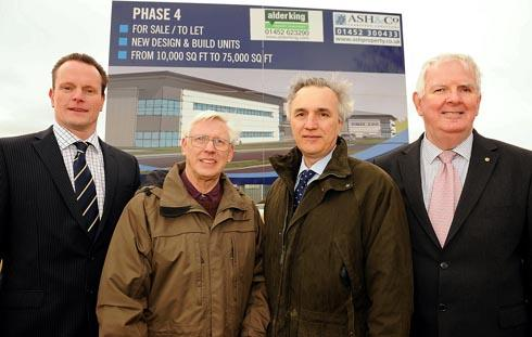 (l-r) Pete Davies, development manager at St. Modwen, Geoff Wheeler, SDC leader, Nick Stewart, estates manager, and Pat Comer, managing director of Lister Petter