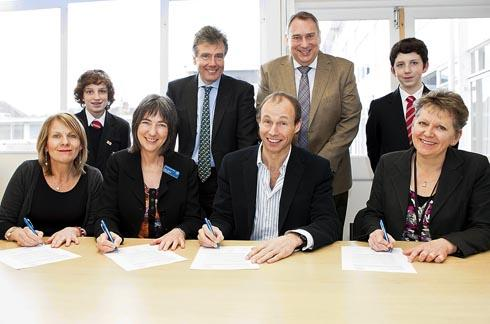 MP Neil Carmichael witnessed the signing of the Stonehouse Community Partnership's schools working group vision statement on Friday