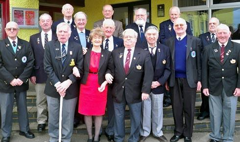 Members of the Gloucester branch of the British Korean Veterans during their lunch to mark 60 years since the end of the conflict