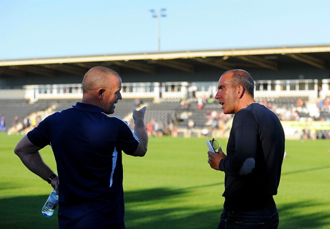 Forest Green manager Dave Hockaday and Paolo Di Canio, who resigned as Swindon Town manager this week SCH1460H12