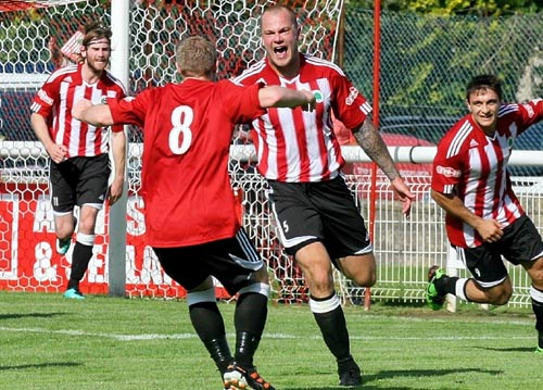 FAREWELL: Ashley Thomas plays his last match for Shortwood on Saturday Picture: Brian Rossiter