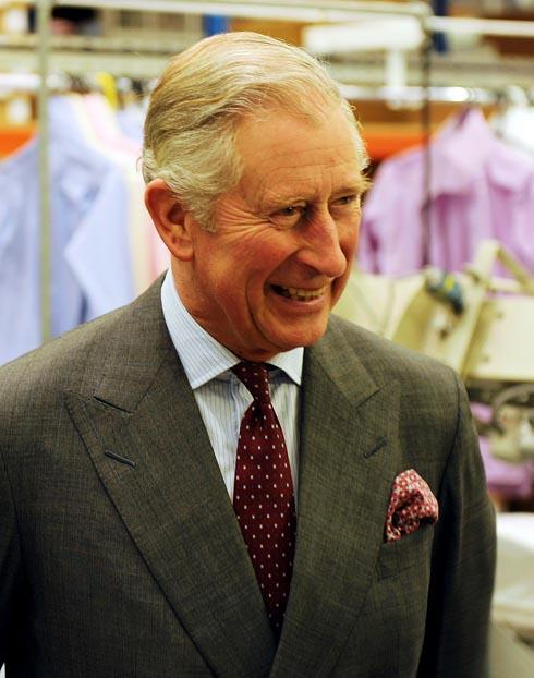 HRH the Prince of Wales visited the Turnbull & Asser factory in Quedgeley this afternoon, Friday Picture: Carl Hewlett