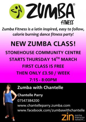 Zumba with Chantelle @ Stonehouse Community Centre | Stonehouse | United Kingdom