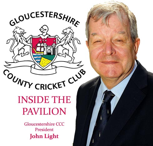Gloucestershire CCC president John Light