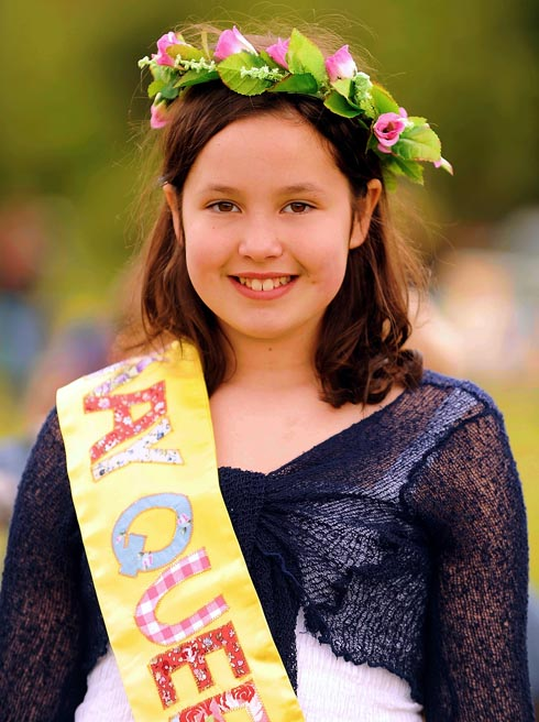 Thrupp Primary School pupil Eloise Long was last year's May Queen at the Grand Village Thr