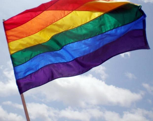 GCC flying flag against homophobia