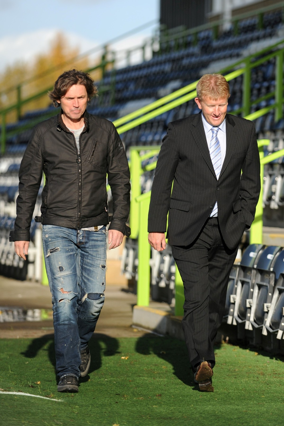 POSITIVE: FGR chairman Dale Vince and boss Ady Pennock      Picture: Tom Wren