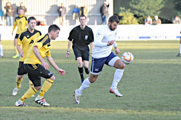 Stroud News and Journal: Yate Town striker Lewis Haldane scored twice against Shortwood United