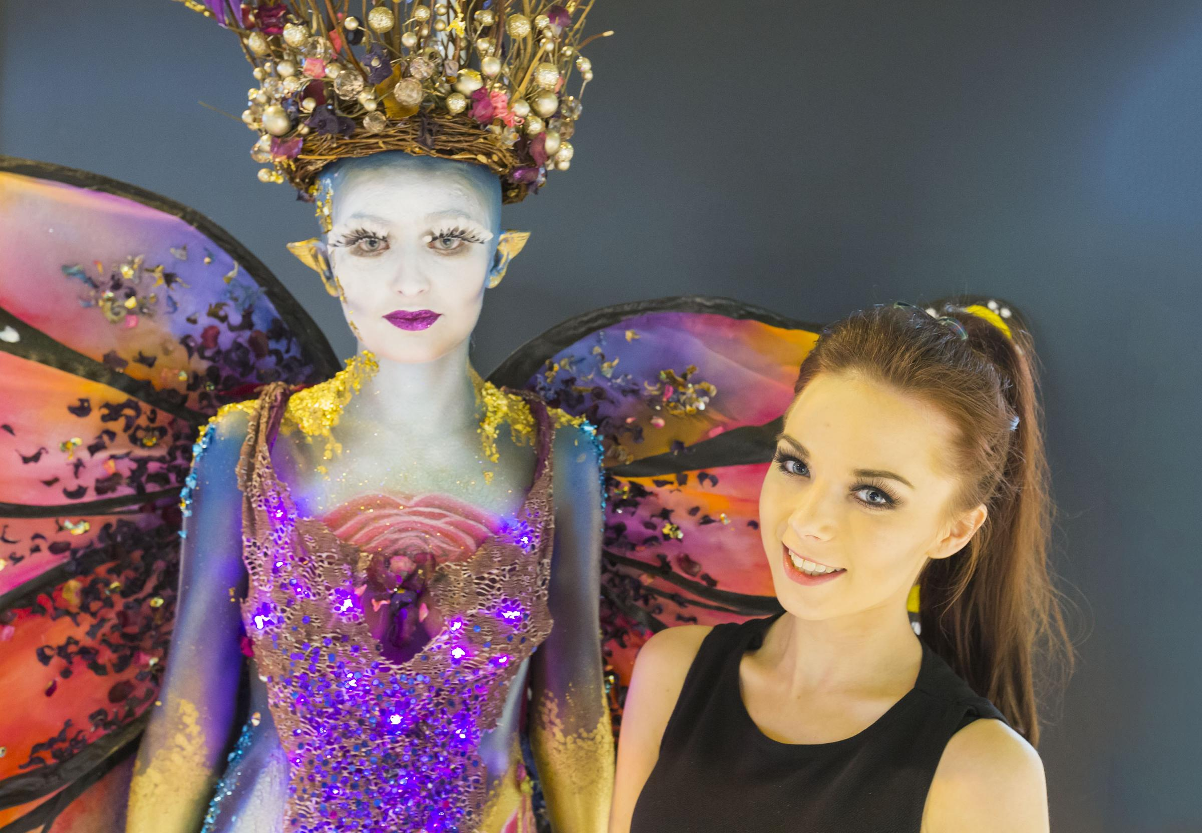 SGS make-up artistry student Katie Hadley won gold in the finals of a national competition for her incredible butterfl