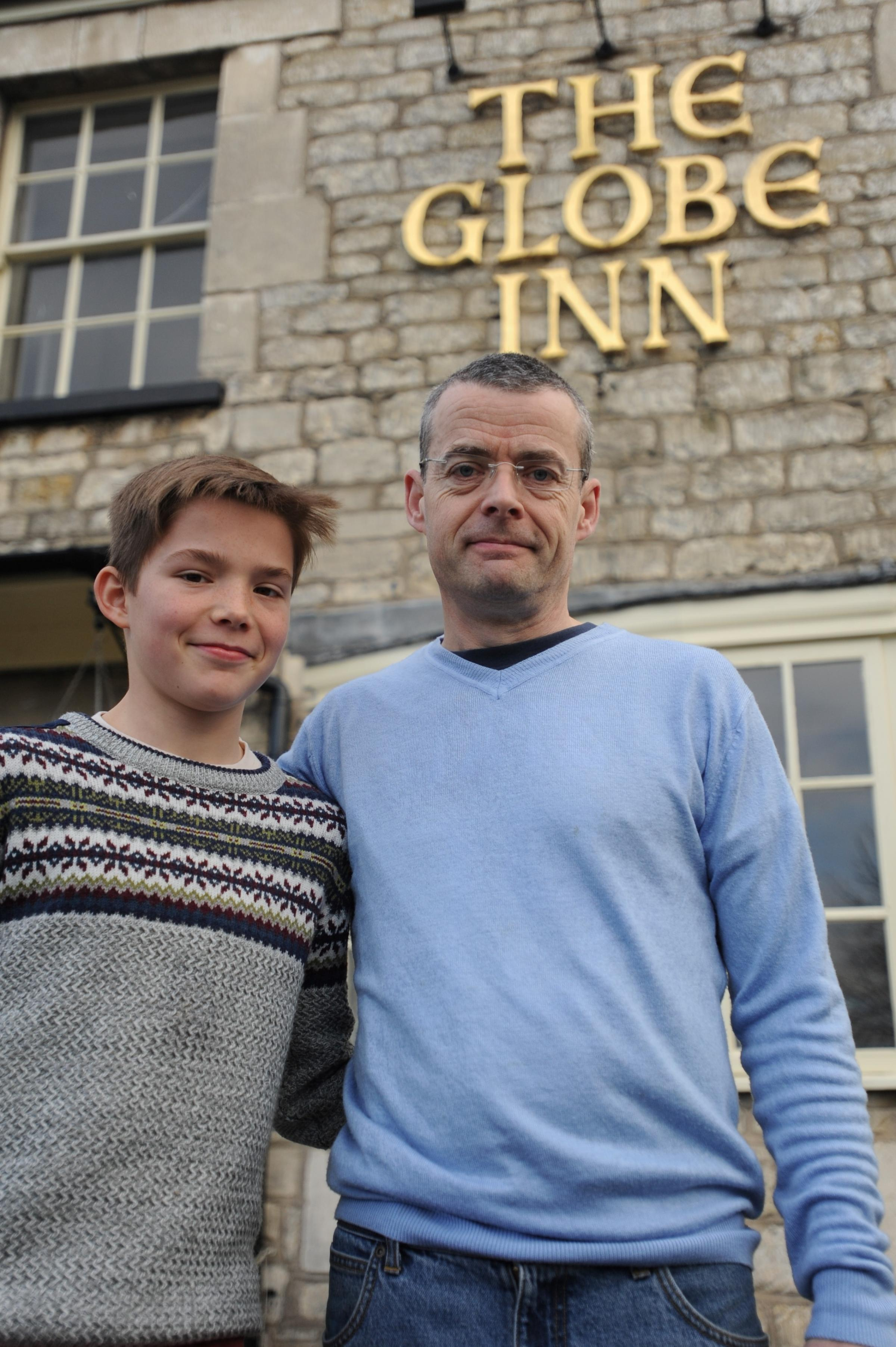 Boy's treasured possessions lost in fire at the Globe Inn