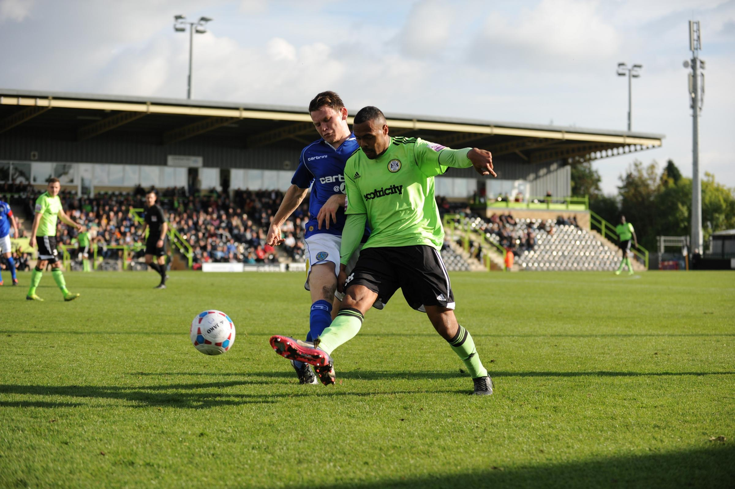 Matthew Barnes-Homer was one of three Forest Green players to miss from the penalty spot against Chorley (3076770)