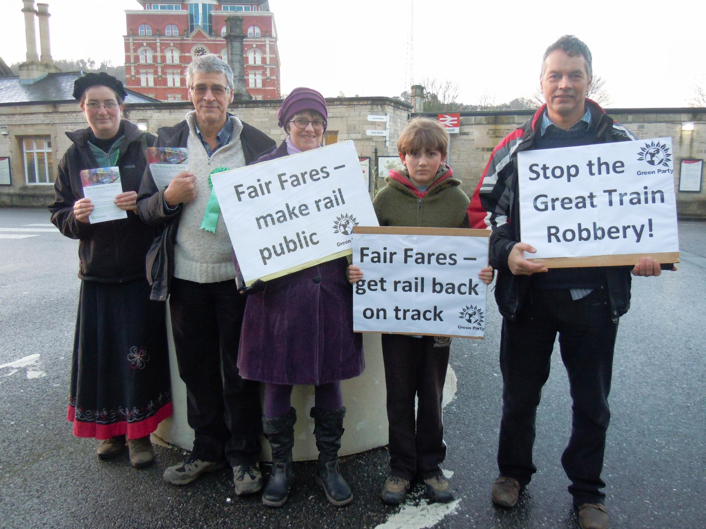 Stroud Green Party calls for Britain's railways to be re-nationalised