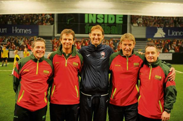 The Inside Football team are encouraging the over-50s to take part in walking football