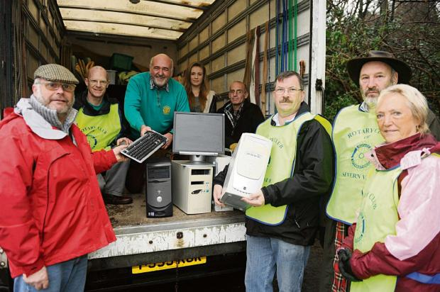 Members from the Rotary Club of Severn Vale at Tesco in Stroud on Saturday collecting unwanted IT equipment for Cheltenham charity IT Schools Africa (3277353)