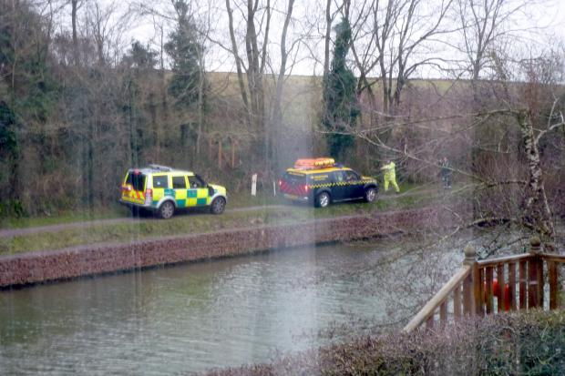 The Hazardous Area Rescue Team set about recovering the bodies from Gloucester Sharpness Canal in Purton