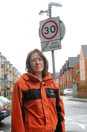 Green Party county councillor Sarah Lunnon has been campaigning to get a 20mph area wide limit introduced in the town.