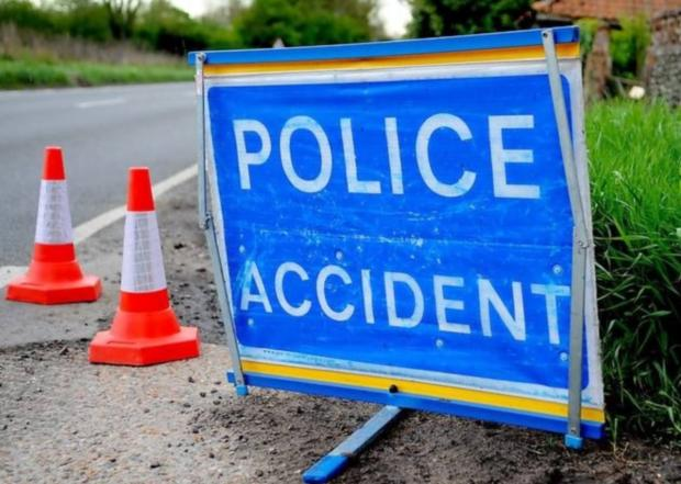 A419, London Road, blocked after accident involving two lorries