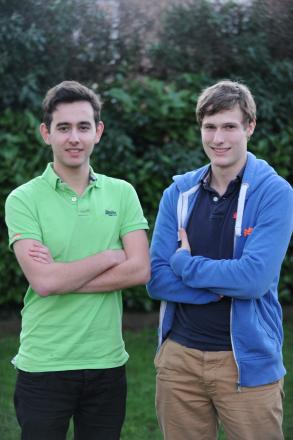 Leo May (left) and Ben Rolfe, both 17, are hoping to break a world record when they climb 3,000 metres and cycle 450 miles in less than 47 hours