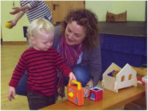 Erika Jones and her son Samuel playing at the new Jelly Tots baby and toddler group in Brimscombe (3728444)