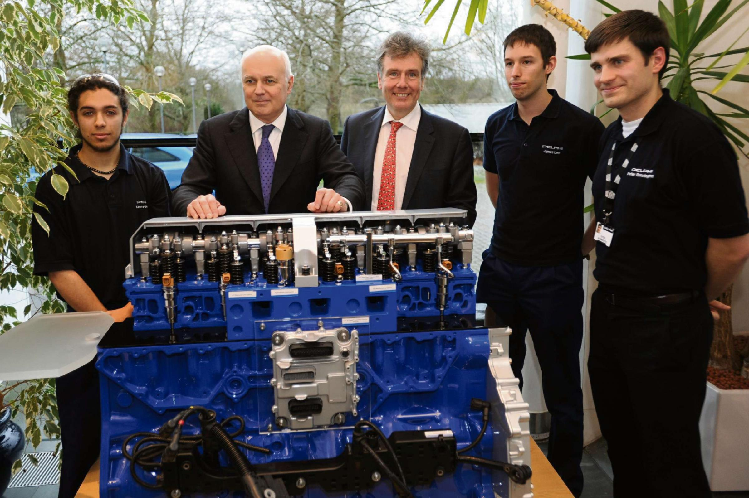 Former Tory leader Iain Duncan Smith visits Five Valley's engineering firm