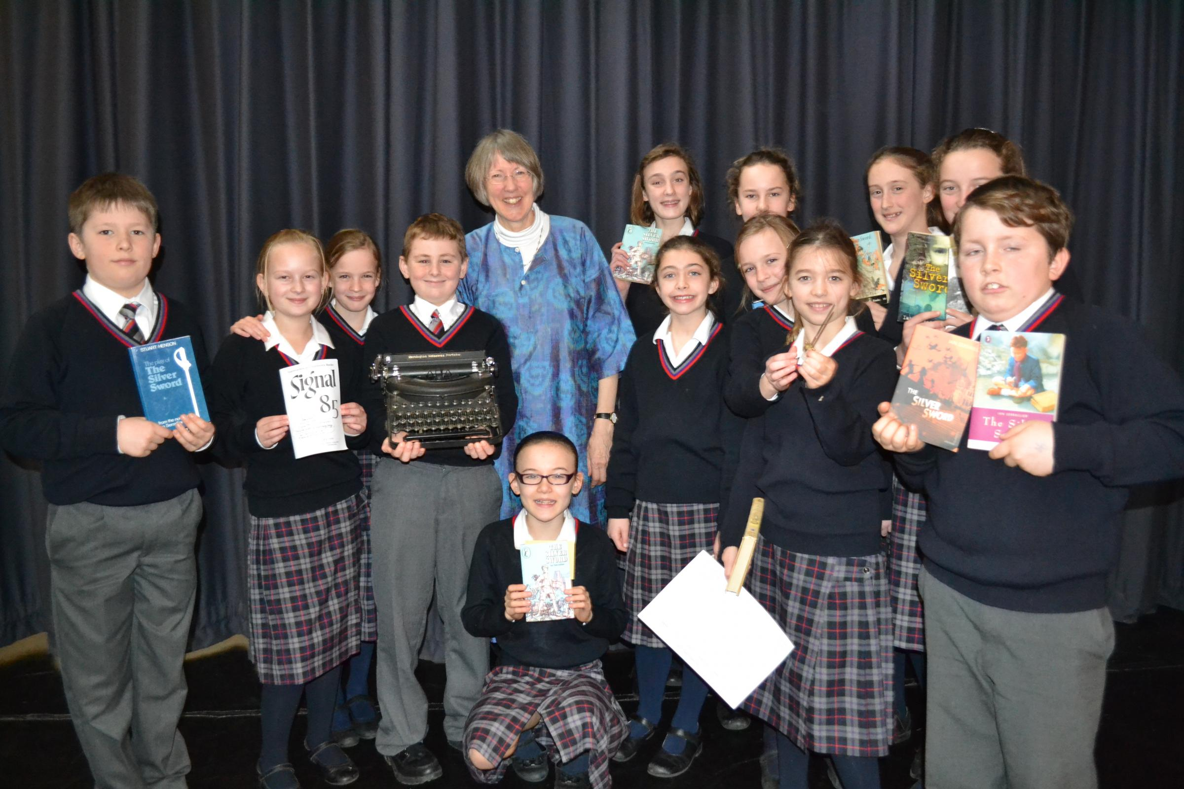Jane Serraillier, daughter of novelist and former Wycliffe School teacher Ian Serraillier, visited pupils at her father's alma mater to share his