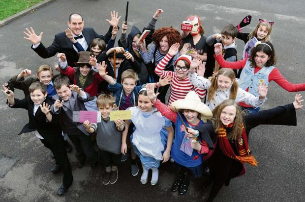 Year 6 pupils from Rodborough Primary School dress as their favourite characters from books as part of breathtaking book week (3790105)