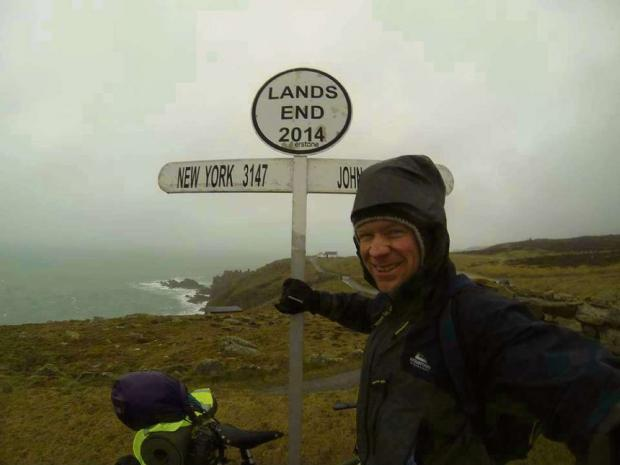Ross Bingham, 32, is cycling the length of Britain to raise money for Great Ormond Street Hospital