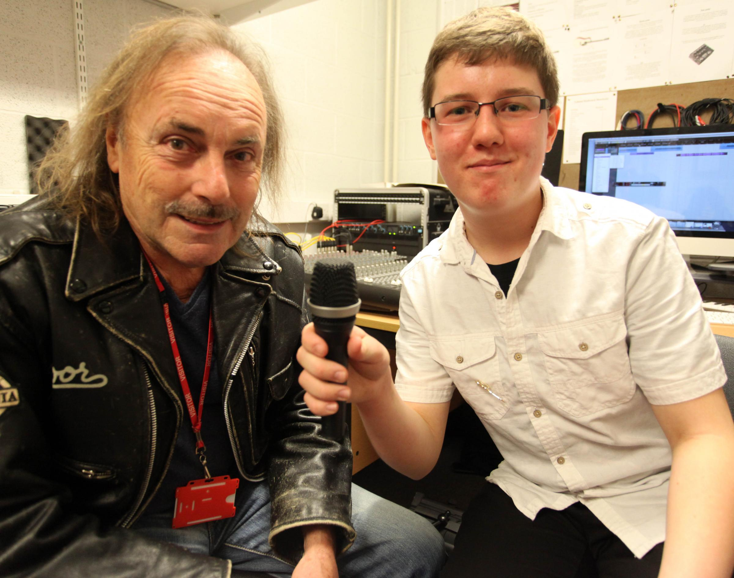 Pupil drums up Status Quo star
