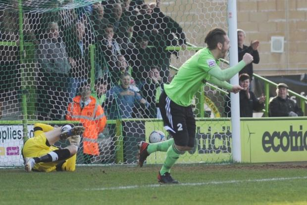 Stroud News and Journal: FGR defender Jared Hodgkiss is banishing any contract talks  Pic: Tom Wren