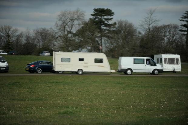 Stroud News and Journal: Travellers descend on Minchinhampton farm