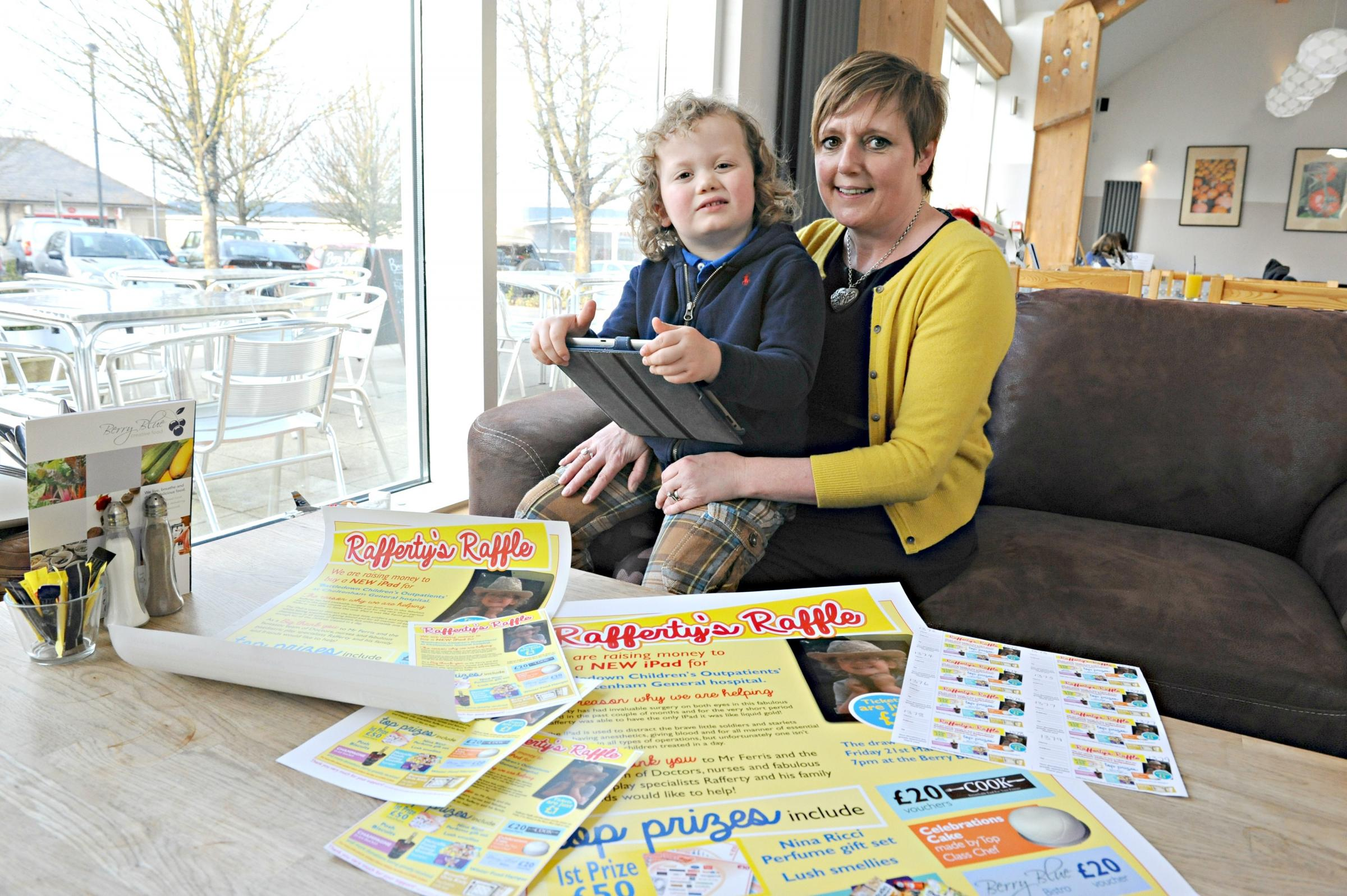 Eye surgery toddler's mum fundraises for Gloucestershire hospitals