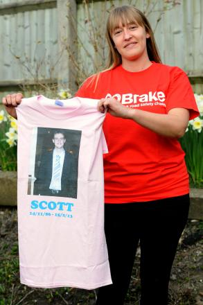 Sallie-Ann Lane is taking part in a sponsored skydive on Saturday in memory of her brother Scott Lane who died last yea