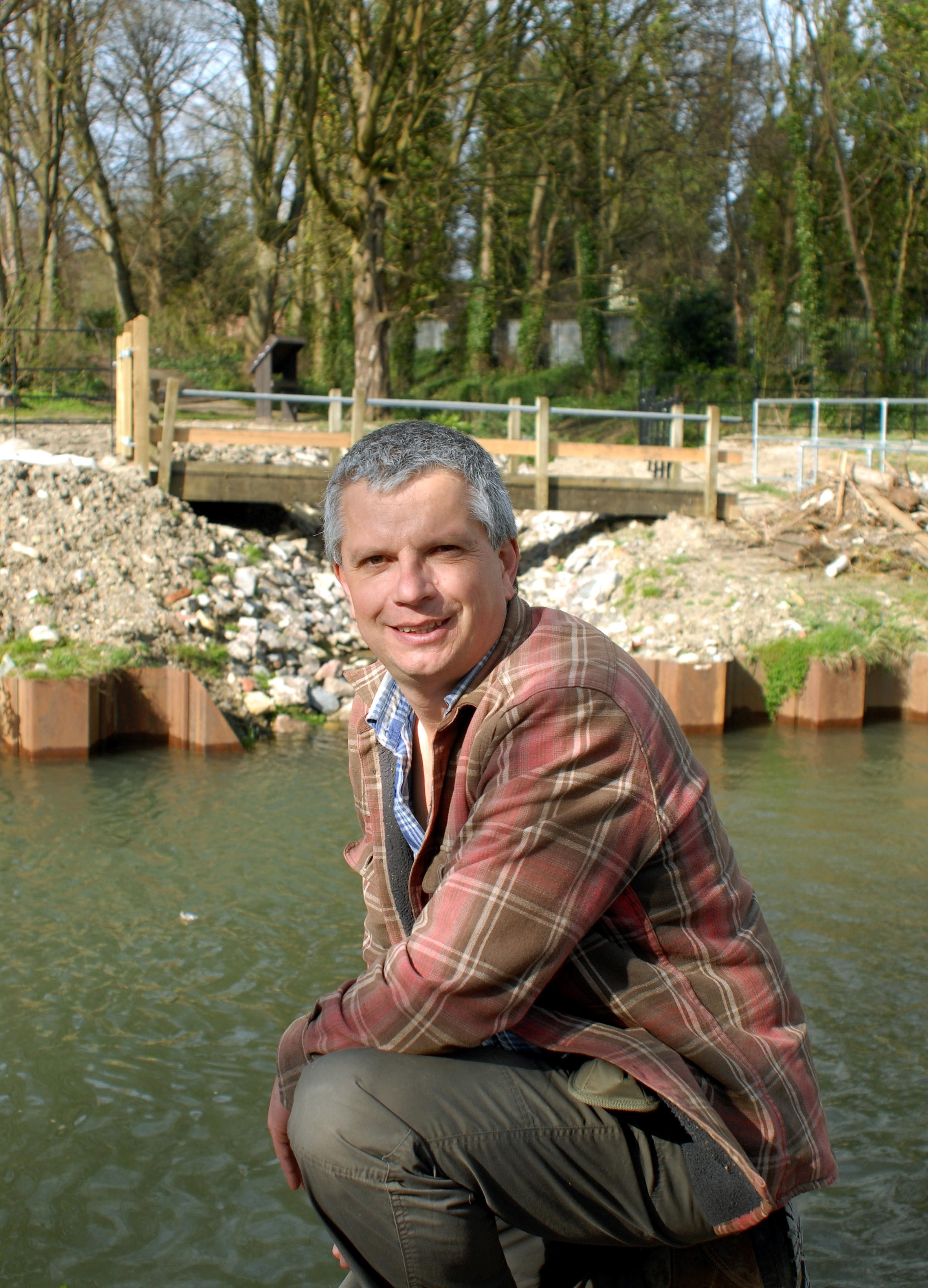 Andy Read pictured at the opening of the Dudbridge double lock last week.
