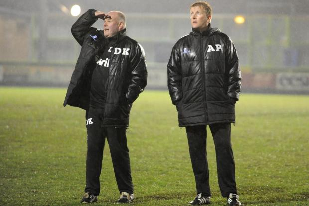 Stroud News and Journal: FRUSTRATION: FGR boss Ady Pennock and  assistant Dave Kevan Pic:To