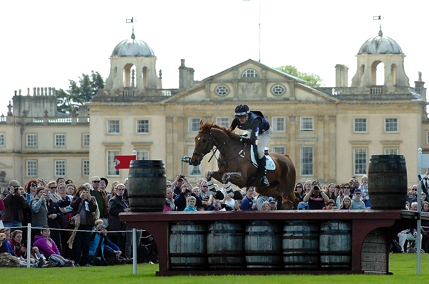 Mark Todd in Badminton Horse Trials action