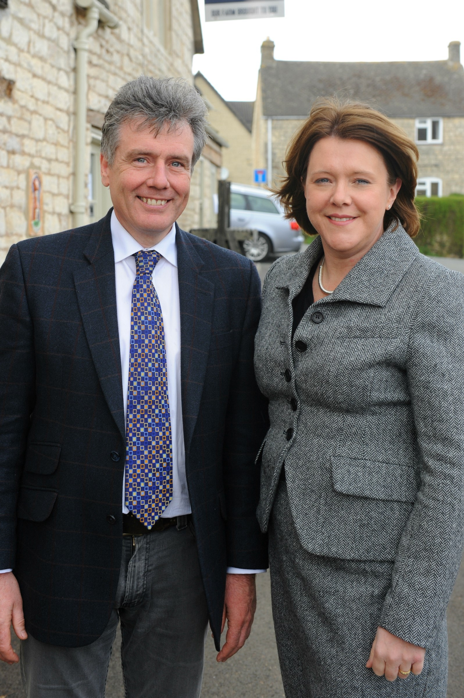 Secretary of State for culture, media and sport Maria Miller visits Stroud MP Neil Carmichael (4928458)