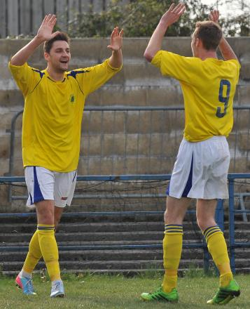 GOAL MACHINE: Duncan Culley (left)                 Picture: Brian Rossiter