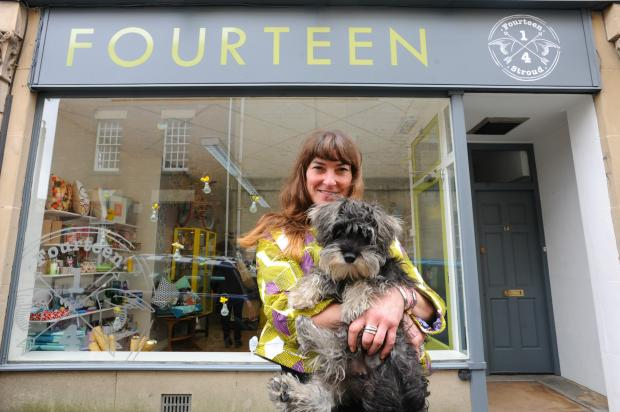 New Stroud trader Denise Ballard and dog Olive             Picture: Tom Wren