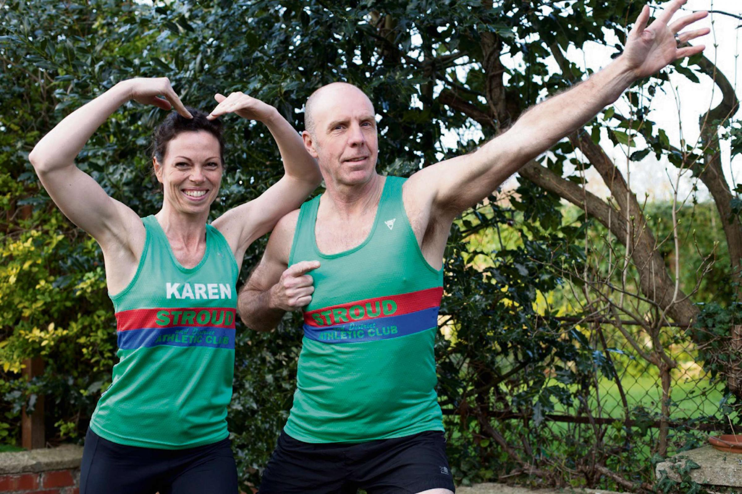 Karen and Colin Waller are ready for the London Marathon