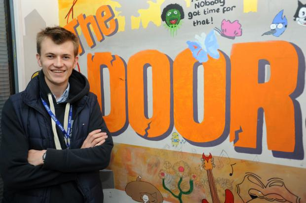 Stroud News and Journal: Harry Gardner - Apprentice Fundraiser at The Door Youth Project.