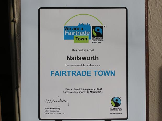 Nailsworth renews status as a Fairtrade town