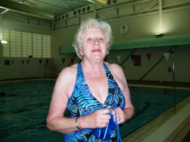 Sheila Goodwin, 72, raised £410 for Sport Relief by taking part in a sponsored mile swim (5521895)